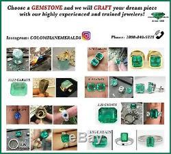 1.66 Carats Top Quality Dark Deep Green Natural Colombian Emerald Rare Color