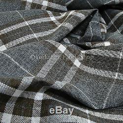10 Metre Of Versatile Quality Dark Grey Tartan Design Interior Upholstery Fabric