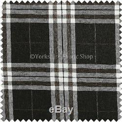 10 Metre Versatile Quality Dark Brown Tartan Design Interior Upholstery Fabric