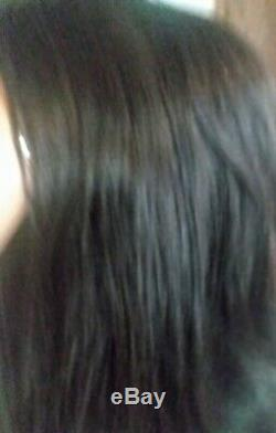 100% human hair wigs dark brown Sheen Real 15 10A quality