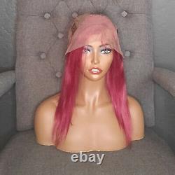 14 Deep Pink/Dark Fuchsia 150% Density 100% High Quality Brazilian Human Hair