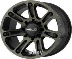 18 Black Wheels Rims Dark Tint Fuel F-150 He904 Fuel XD