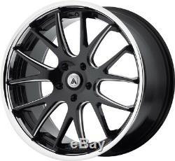 20 Black Chrome Lip Wheels Rims 5x114.3 5x4.5 Asanti