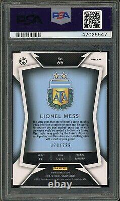2015 Panini Select 65 Lionel Messi Dark Blue Jersey Blue Prizm Psa 10 47025547