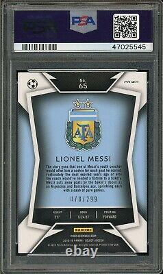 2015 Panini Select 65 Lionel Messi Dark Blue Jersey Blue Prizm Psa 9 47025545