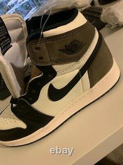 2020 Nike Air Jordan 1 Retro High Dark Mocha 555088-105 Mens sizes 8-14