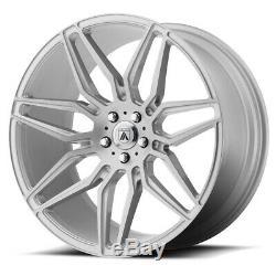 22 Brushed Silver Wheels Rims 5x114.3 5x4.5 Asanti 22x9