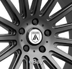 22 Gunmetal Anthracite Wheels Rims Graphite 5x114.3 5x4.5 Asanti 22x9