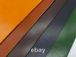 2mm thick dyed veg tan leather craft select 5 colours & size