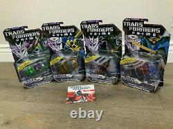 4 Transformers Prime Dark Energon Starscream Bumblebee Wheeljack Knock Out BBTS