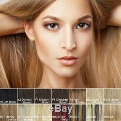 70g 80g 120g 140g 200G16-30inch Full Head Quality Clip in Human Hair Extensions