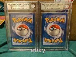 99 & 100 /102 DARKRAI & CRESSELIA LEGEND HOLO Pokemon Cards BGS 9 Mint
