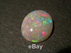 Amazing Gem Quality Solid Dark Crystal Opal Australia Lightning Ridge 2.5 cts