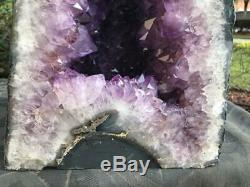 Amethyst Geode Cathedral Great Quality & Color Dark Large Points FREE Shipping