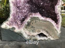 Amethyst Geode Cathedral Great Quality & Color Very Dark Points FREE Shipping