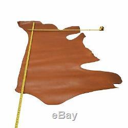 Artisans Choice Bridle Leather Cow Hide Side 22 Sq Ft Dark Chestnut 3-4 oz