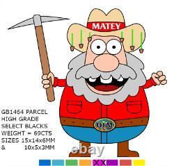Australian ROUGH OPAL HIGH GRADE 69ct SELECT BLACK & DARK BRIGHT COLOURS GB1464