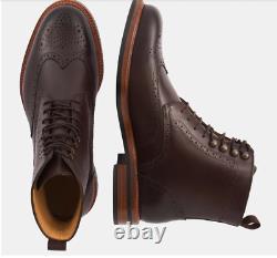 Beckett Simonon Brogue Wingtip Dark Brown Boots. Nwob. Size 8 Ret. $400 Quality