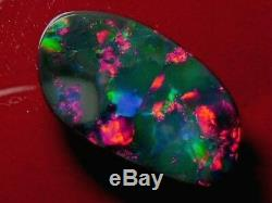 Brilliant Sparking Pretty Colour Pattern Good Quality Dark Grey Opal 11.59 carat