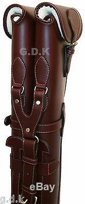Choice Of 3, Double Leather Shotgun Slips, Guardian Leather, For 28-32 Barrels