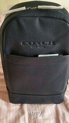 Coach Leather Backpack in Dark Blue. New&Unused! Highest Quality! Rrp £495