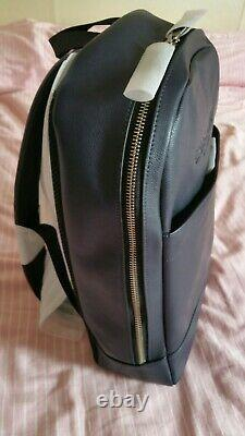 Coach. Leather Backpack in Dark Blue. New. Unused! Highest Quality! Rrp £495