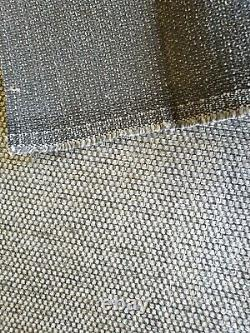 Curtaining Fabric Furnishing Upholstery Chenille Quality Silver Dark grey Tweed