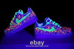 Custom Nike Air Force 1 low UV Glow in the dark the BEST QUALITY
