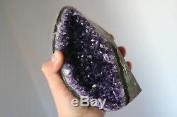 DARK AMETHYST CRYSTAL CLUSTER GEODE CATHEDRAL HIGH QUALITY. Weight 2.12 LBS