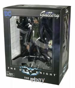DC Gallery Dark Knight Movie The Joker PVC Statue Diamond Select NIB MWATOB