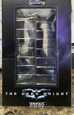 DC Gallery Dark Knight Movie The Joker PVC Statue Diamond Select NIB MWOB