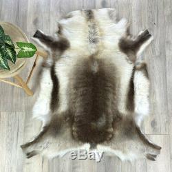 Dark Brown Reindeer Hide Rug Fur Rug Throw Animal Skin #21 High quality