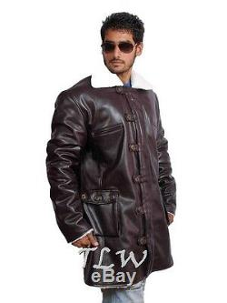 Dark Knight Rise Bane Coat Wore by Tom Hardy PU/Sheep/Cow Leathers A++ Quality