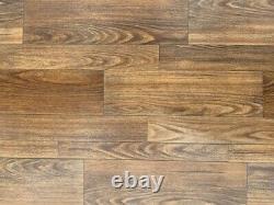 Dark Varnish Oak Vinyl Flooring Quality Roll 3mm thick (ROLL 86) 4m x 4m