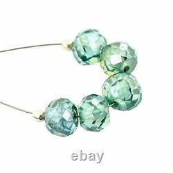 Dark blue loose moissanite diamond beads 26.77 ct loose round shape best quality