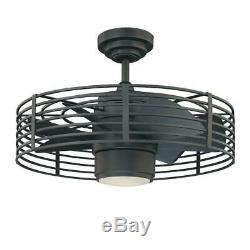 Designers Choice Collection Enclave 23 in. Natural Iron Ceiling Fan AC17723-NI