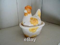 Emma Bridgewater Buttercup Coddler Small Hen In Nest Dark Sponging First Quality