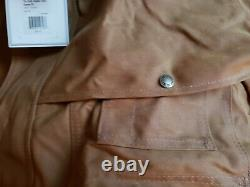 FILSON 11010001 TIN PACKER COAT STANDARD SIZE LARGE DARK TAN NWT 1st quality
