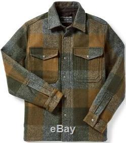 Filson Mackinaw Jac Shirt Dark Military Plaid 100% Wool Men's XL 2nd Quality NWT