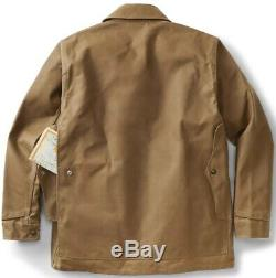 Filson Tin Cloth Cruiser Jacket Dark Tan Second Quality, Men's XL NWT MSRP $350