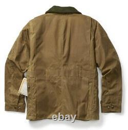 Filson Tin Cloth Field Coat Dark Tan 2nd Quality, Men's S NWT MSRP $450