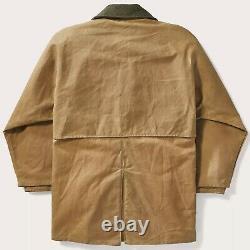 Filson Tin Cloth Packer Coat Dark Tan 2nd Quality, Men's L NWT MSRP $475