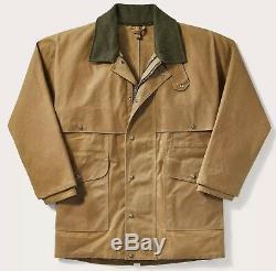 Filson Tin Cloth Packer Coat Dark Tan Second Quality Mens 2XL LONG NWT MSRP $450