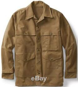 Filson Tin Cruiser Jacket Dark Tan 2nd Quality, Men's L NWT MSRP $350