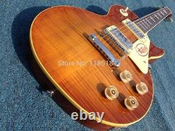 Free Shipping High Quality Dark 1959 R9 Tiger Flamed Standard Electric Guitar