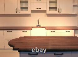 Full Stave Prime Black American Walnut Wood Worktop, Worktops, Timber