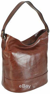 Gianni Conti Fine Italian Leather Bucket Shoulder Bag Stunning Quality 9406746