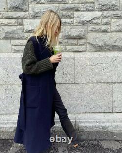 Giuliva Heritage x H&M Premium Quality Sleeveless Wool-blend Coat, S, Dark Blue