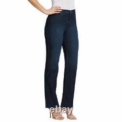 Gloria Vanderbilt Ladies' Amanda Stretch Denim Jeans Dark Blue (Select Size)