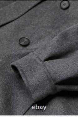 H&M Premium Quality Oversized Wool Coat Dark Grey Size L Bloggers Favourite